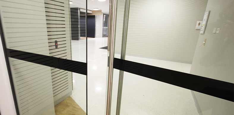glass safety decal macquarie university sydney