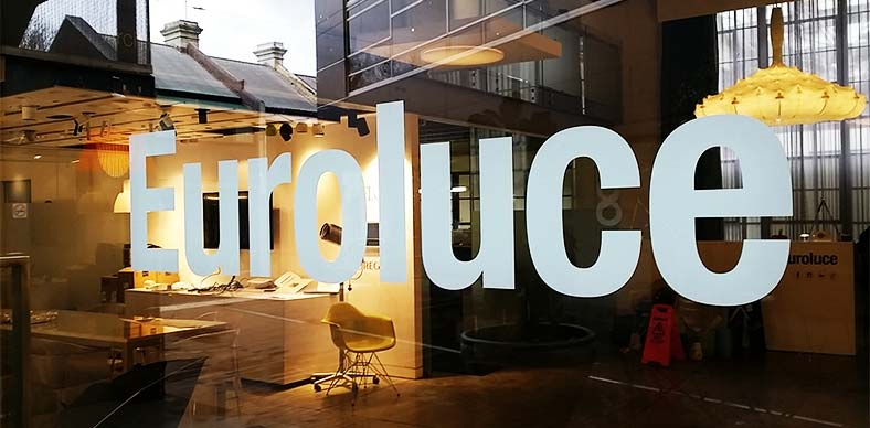 New Sale Signage For Euroluce Shop Windows