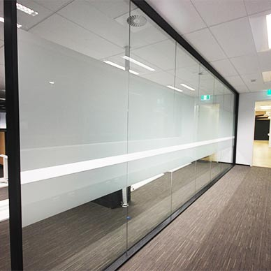 glass window frosting sydney privacy solution