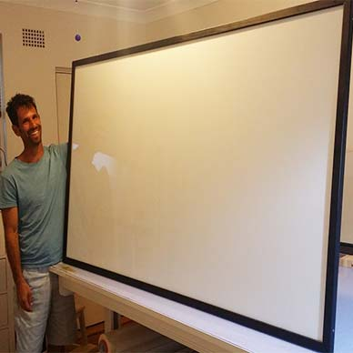 Custom made magnetic whiteboard at Sydney