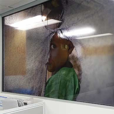 Custom Wall Graphics & Glass Decals for Médecins Sans Frontières
