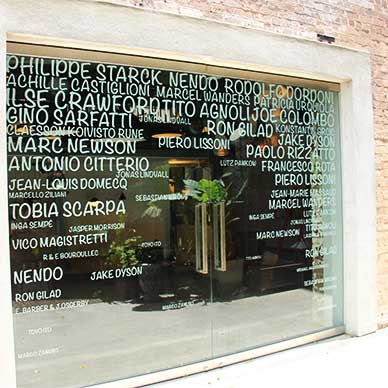 Window graphics shop front, Euroluce Sydney