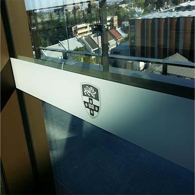 window safety sticker The university of sydney