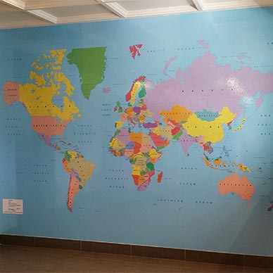 world map wall mural sydney