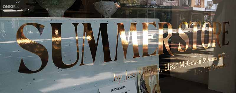 summer-store-window-gold-stickers-sydney