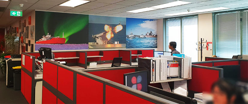 Exploring new frontiers: SERCO Canberra – Canvas Wall Mural
