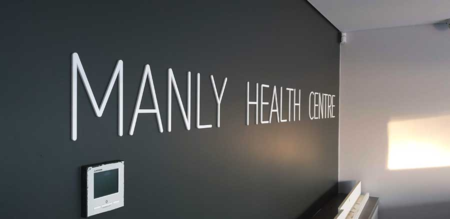 3D-acrylic-sign-Manly-Health-Centre-Sydney