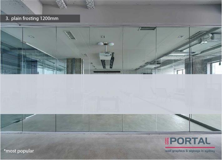window frosting print design in Sydney