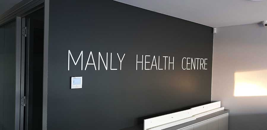 reception-sign-Manly-Health-Centre-Sydney