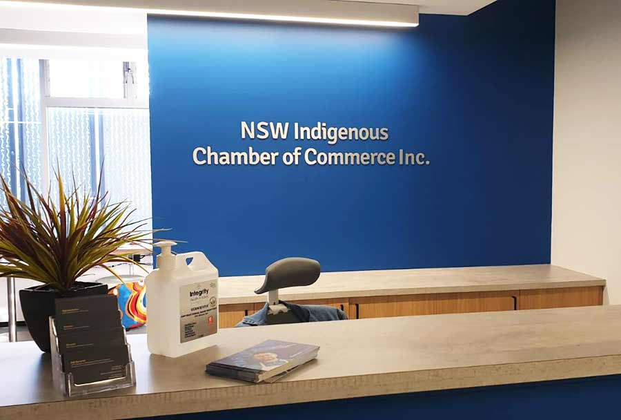 3D-aluminium-reception-sign-nswicc-Sydney