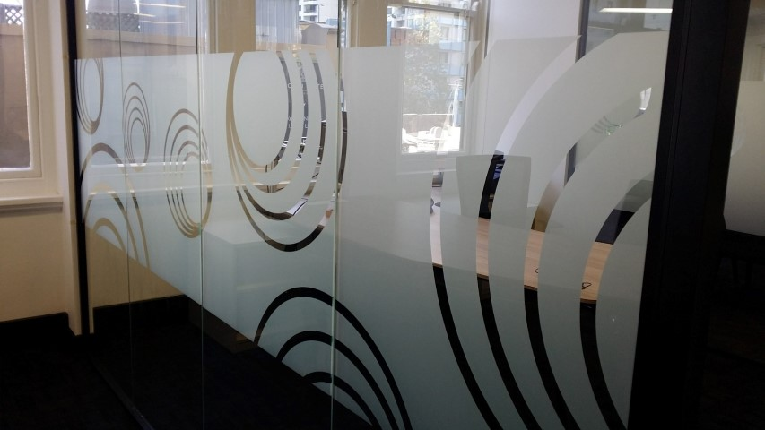 Branded Window Frosting – Stylish Office Privacy
