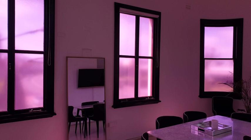 exhibition-coloured-window-signage-sydney-city