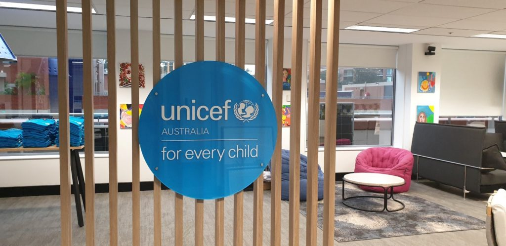 reception-sign-3d-acrylic-2020-unicef-sydney