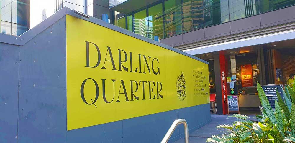 100m of Darling Quarter Hoarding Signage